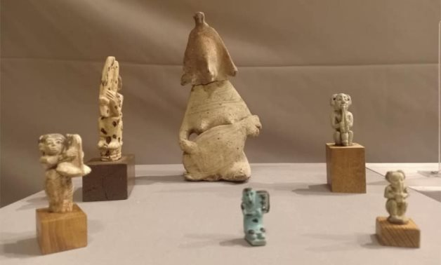Part of the exhibited artifacts in Egypt's Tahrir Museum in celebration of World Music Day - Min. of Tourism & Antiquities