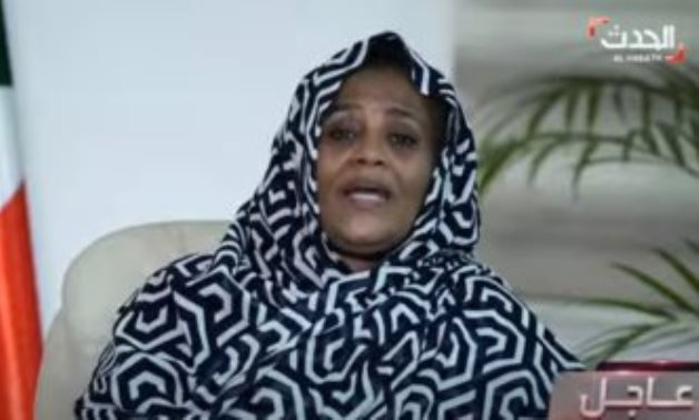Sudanese Minister of Foreign Affairs Mariam al-Sadeq in an interview with Al Hadath TV channel on June 19, 2021. Press Photo