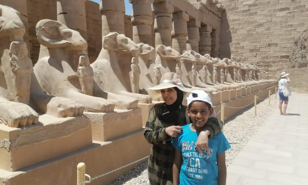 Talented Sinai child Ali Hassan and his sister during their trip to Luxor - Min. of Tourism & Antiquities