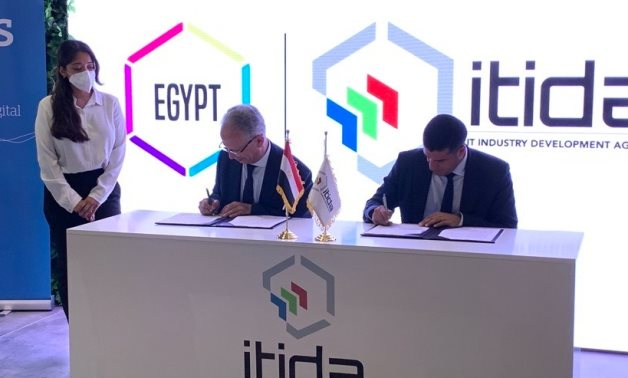 Atos and Egypt's Information Technology Industry Development Agency (ITIDA) have signed a Memorandum of Understanding at the Mobile World Congress 2021 in Barcelona- PRESS PHOTO