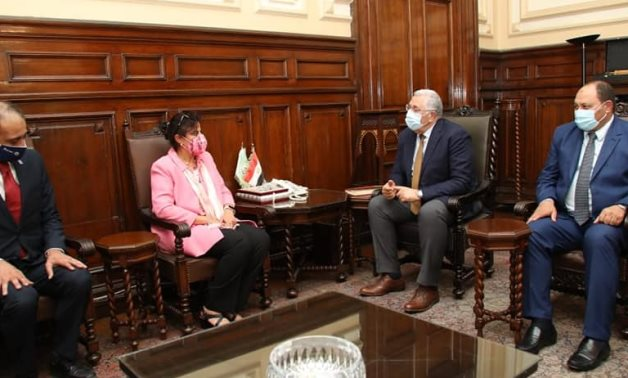 Egyptian Minister of Agriculture and Land Reclamation Sayyed el- Quseir meets with IFAD Regional Director for the Near East, North Africa, Central Asia, and Europe (NEN) Dina Saleh- press photo
