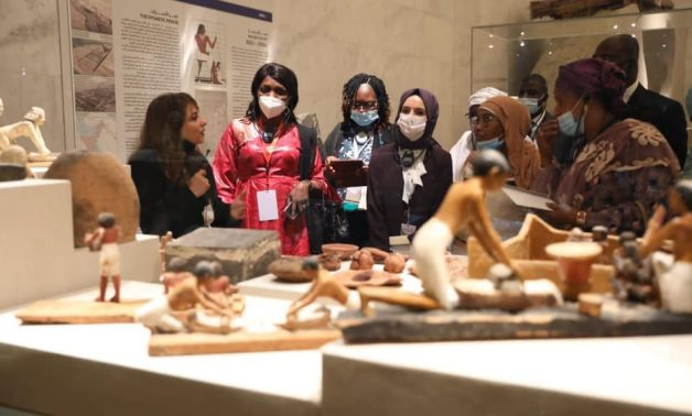 During official visits to the NMEC - Min. of Tourism & Antiquities