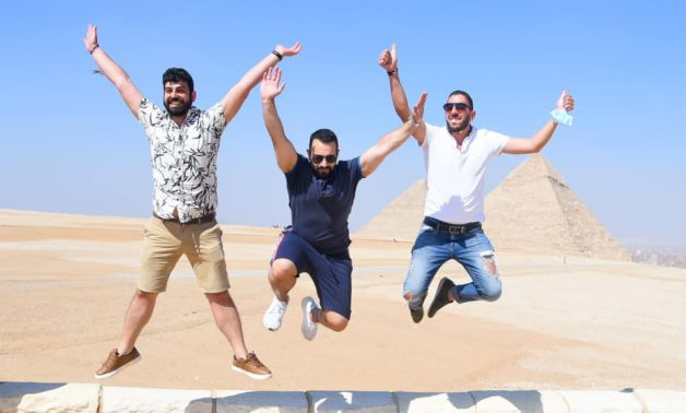 During the visit to the Great Pyramids of Giza - Min. of Tourism & Antiquities