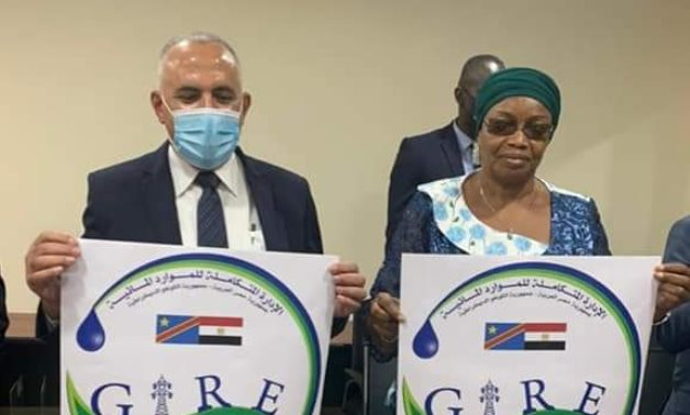 The Egyptian Water Minister, Vice Prime Minister and Minister of Environment and Sustainable Development Eve Bazaiba Masudi inaugurate a Flood and Rain Forecasting Center in the DRC on Friday- press photo