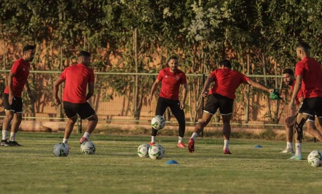 Al Ahly players continue their preparations for the CAF Champions League final in Morocco