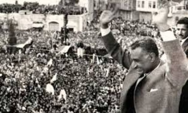 FILE - Late Egyptian President Gamal Abdel Nasser nationalizes the Suez Canal in 1956