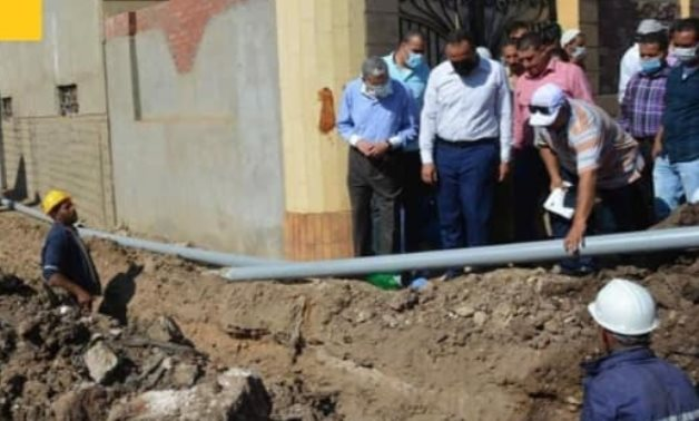 Under-progress project in one of the villages of Menya within Decent Life initiative – Press Photo