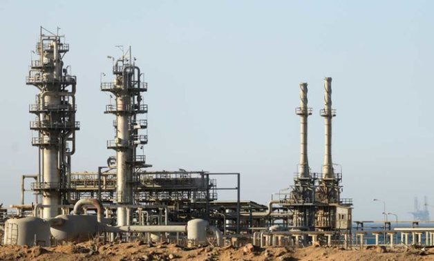 A view of a gas plant seen from the desert road of Suez outside Cairo, Egypt September 1, 2020. (REUTERS)