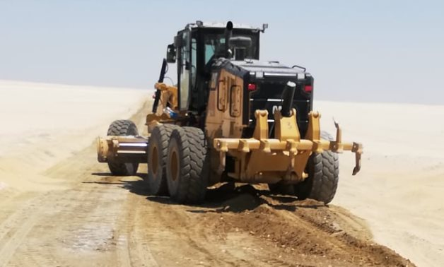 FILE - construction site in Egypt