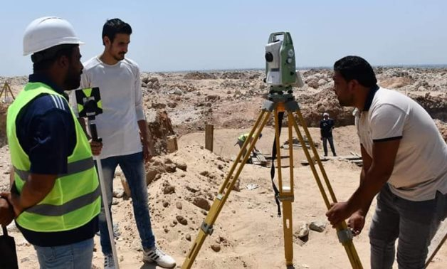 On-site work on water projects in Minya - Facebook page of Minya's water department