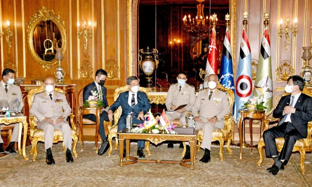 Egypt's Defense Minister Mohamed Zaki meets with his South Korean counterpart, Suh Wook, in Cairo – Egyptian military spox