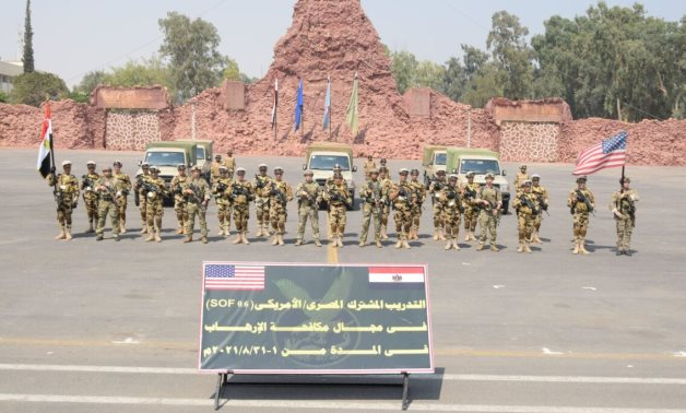 Egypt's paratroopers and commandos conclude a joint training that involved the US troops with the aim of countering terrorism – Egyptian military spokesman