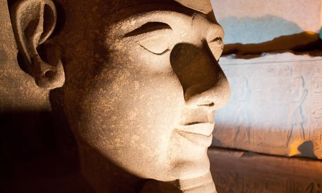 The well known face of Ramses from one of his many colossal statues -