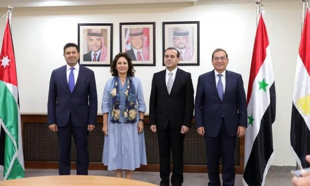Energy ministers of Lebanon, Jordan, Syria and Egypt meet in Amman - Egyptian Ministry of Petroleum