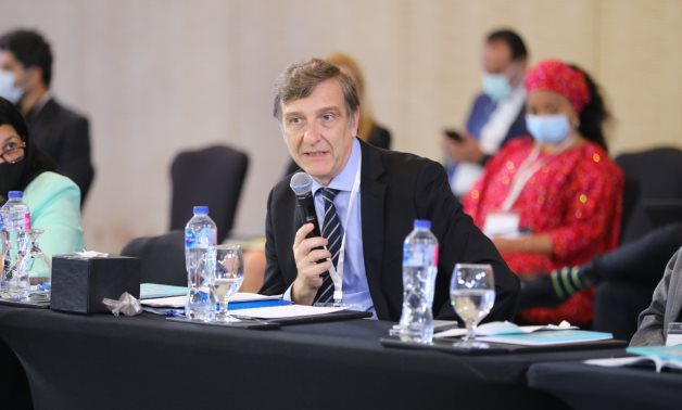 The regional representative of the European Investment Bank (EIB) in Egypt, Alfredo Abad, at Egypt-ICF