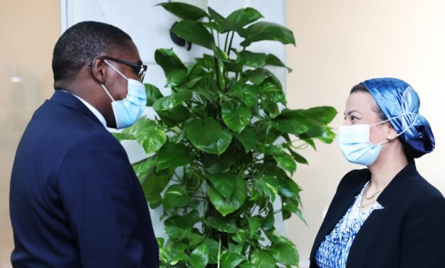 Egyptian Minister of Environment Yasmine Fouad met with Selwin CharlesHart. Special Adviser to theSecretary-GeneralonClimate ActionandAssistant Secretary-Generalfor theClimate ActionTeam- press photo