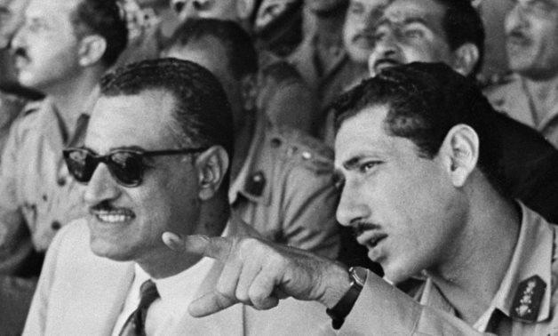 Abdel Hakim Amer [R] with former Egyptian President Gamal Abdel Nasser - Teller Report
