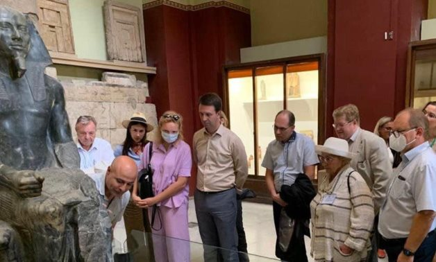 During the visit - Min. of Tourism & Antiquities