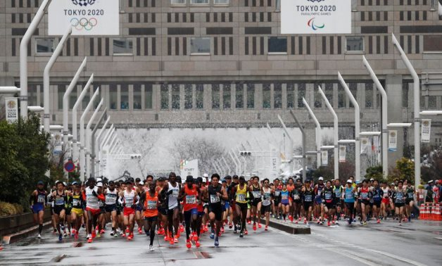 Runners at the start of the Tokyo Marathon 2019. REUTERS