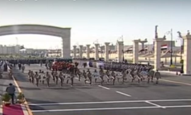 Military funeral of Field Marshal Mohamed Hussein Tantawy - TV screenshot