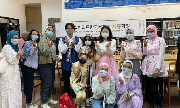 The Korean Cultural Center held a cultural day for the audience of the Egyptian Public Library in Port Said- press photo