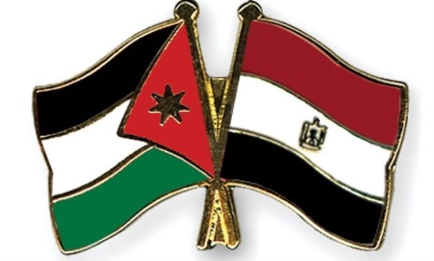 Flags of Egypt and Jordan - CrossedFlagPins