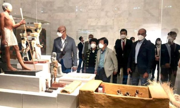 Part of the visit to the NMEC - Min. of Tourism & Antiquities