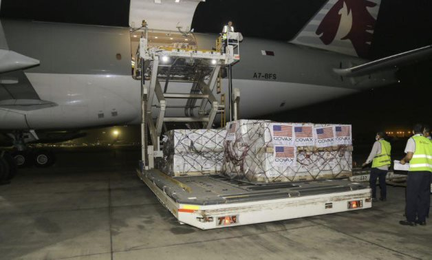 Cairo International Airport receives 2nd shipment of the Pfizer-BioNTech COVID-19 Vaccine provided by the US government - Egyptian Health Ministry