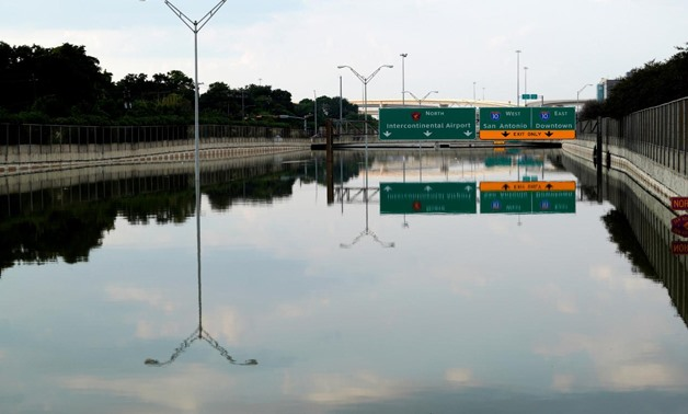 The Sam Houston Parkway is still completely covered with Harvey floodwaters in Houston, Texas September 1, 2017. REUTERS/Rick Wilking