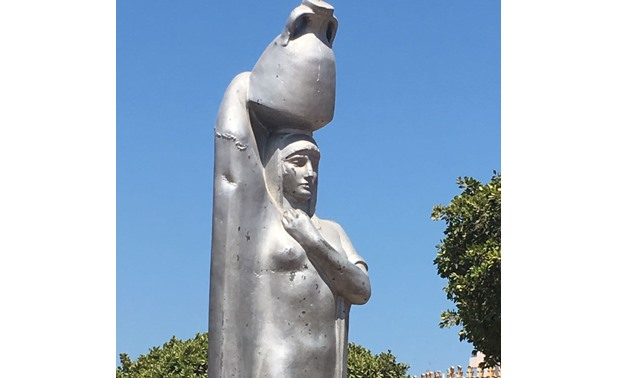 Youm 7 (the discovered statue at Saad Zaghloul Garden in Port Said)