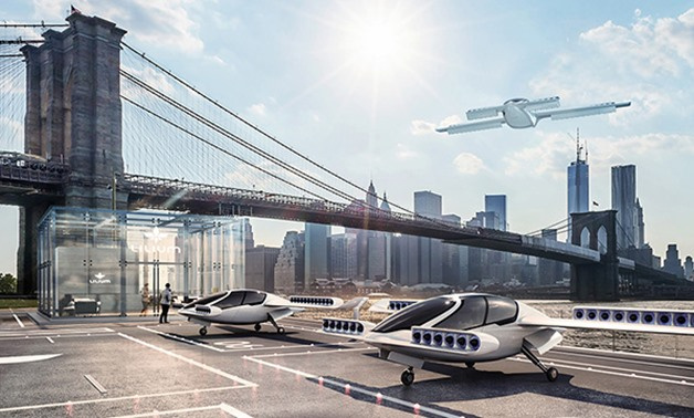Flying taxi made by Lillium- Photo courtesy of company website