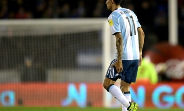 © AFP/File | Argentina's Angel Di Maria injured his thigh during the World Cup qualifier against Venezuela in Buenos Aires, on September 5, 2017