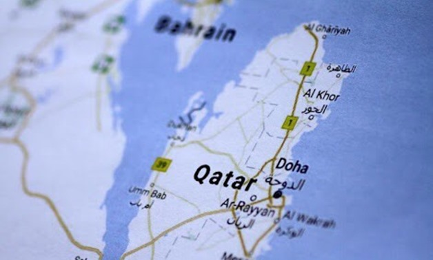 A map of Qatar is seen in this picture illustration June 5, 2017. REUTERS