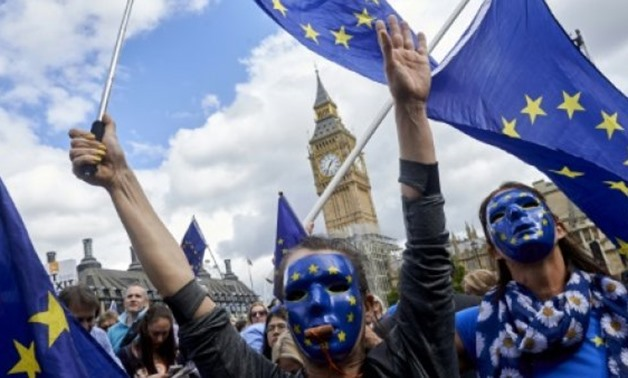 AFP/File / by Alice RITCHIE | Thousands of people marched through London this weekend calling for the whole Brexit process to be abandoned