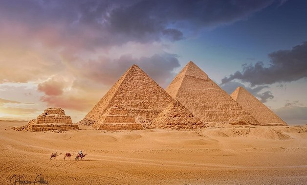 Pyramids in an attractive scenery – Hossam Abbas