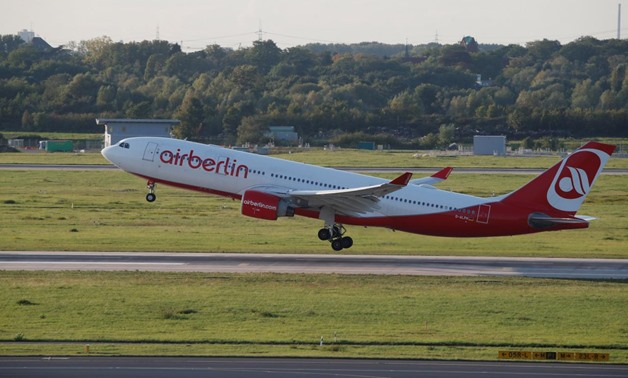 An Airbus A330-223 aircraft of German carrier AirBerlin takes off towards New York, U.S., from Duesseldorf airport, Germany, September 12, 2017. REUTERS/Wolfgang Rattay