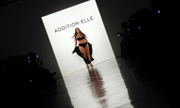 Model Ashley Graham walks the runway for Addition Elle on September 11, 2017 during the New York Fashion Week in New York City-AFP / ANGELA WEISS