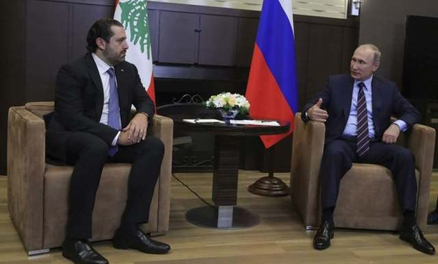 Russian President Putin meets with Lebanese Prime Minister al-Hariri in Sochi -REUTERS