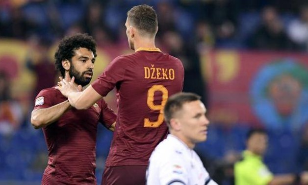 Edin Dzeko and Mohamed Salah with Roma, REUTERS