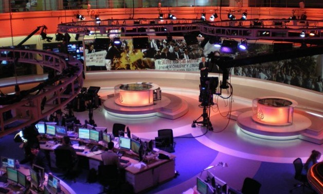 Al Jazeera English Doha Newsroom_via wikimedia commons