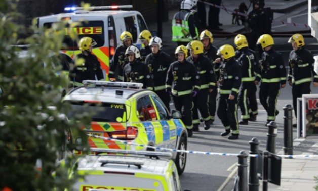 members of emergency service workers near parsons Green tube station in London - 15 Sep 2017- Reuters