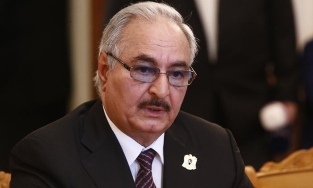 FILE PHOTO: General Khalifa Haftar, commander in the Libyan National Army (LNA) in Moscow, Russia August 14, 2017. REUTERS/Sergei Karpukhin