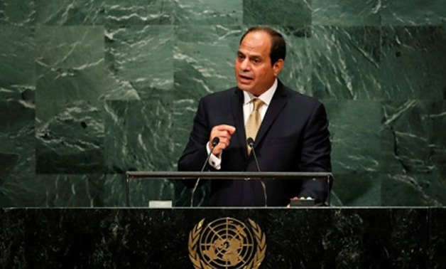 Egyptian President Abdel Fattah El-Sisi addresses the United Nations General Assembly in the Manhattan borough of New York, U.S. September 20, 2016_ Reuters