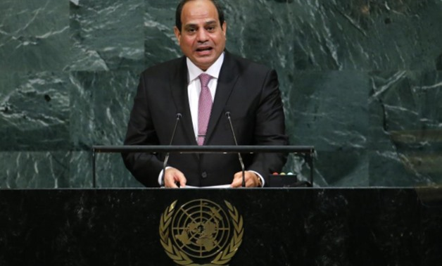 Egyptian President Abdel Fattah Al Sisi addresses the 72nd United Nations General Assembly at U.N. Headquarters in New York- U.S- Sep 19- 2017- REUTERS