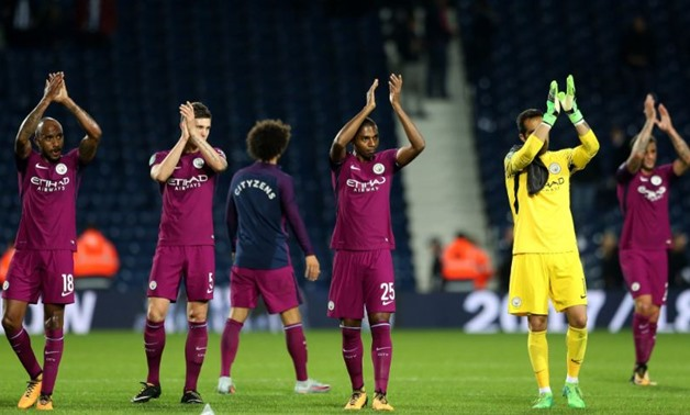 Manchester City Players – press courtesy image Manchester City official Twitter account