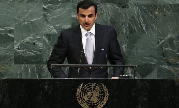 Qatar Emir Sheikh Tamim bin Hamad al-Thani addresses the 72nd United Nations General Assembly at U.N. headquarters in New York, U.S., September 19, 2017. REUTERS/Lucas Jackson