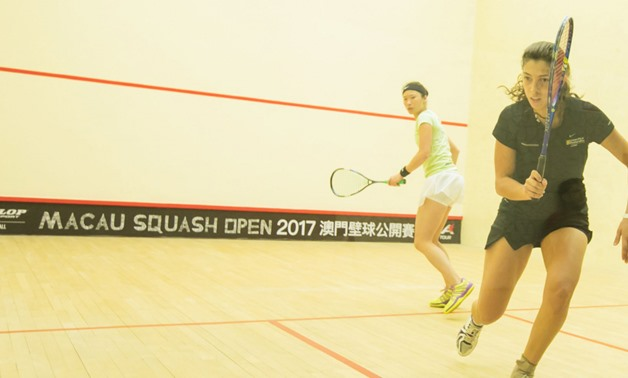 Yathreb Ad:  Mohamed Abouelghar and Omar Abdel Meguid won its games on Fridays to face each other at the semifinal of Macau Squash Open 2017 on Saturday to guarantee an Egyptian player in the final of the tournament.el (right) vs Joey Chan (left)– Press i