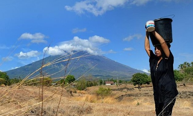 Mount Agung, about 75 kilometres (47 miles) from the Indonesian tourist hub of Kuta, has been rumbling since August, threatening to erupt for the first time since 1963.