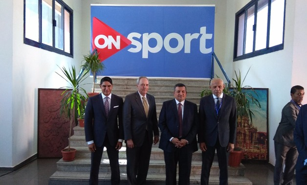 Ahmed Abu Hashima hosts Chargé d'Affaires of the U.S. to Egypt, Thomas Goldberger in the headquarter of ON Network - Egypt Today