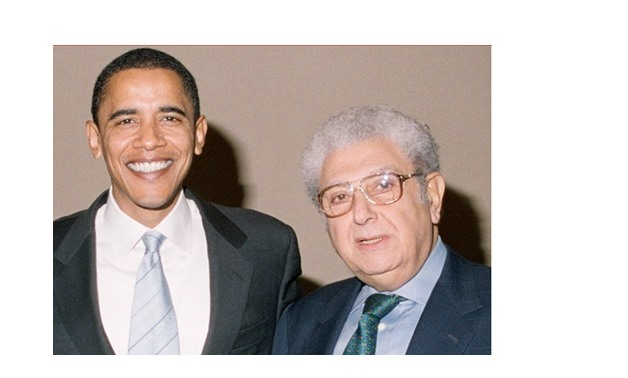 Professor Bassiouni with US former President Barack Obama- 2008- Cherif Bassiouni official website